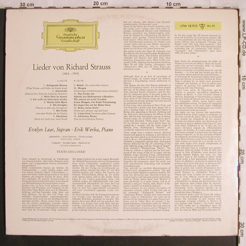 Strauss,Richard: Lieder von, vg+/vg+,(Dirty), D.Gr. Galleria(LPM 18 910), D, Mono, 1964 - LP - L8069 - 5,00 Euro