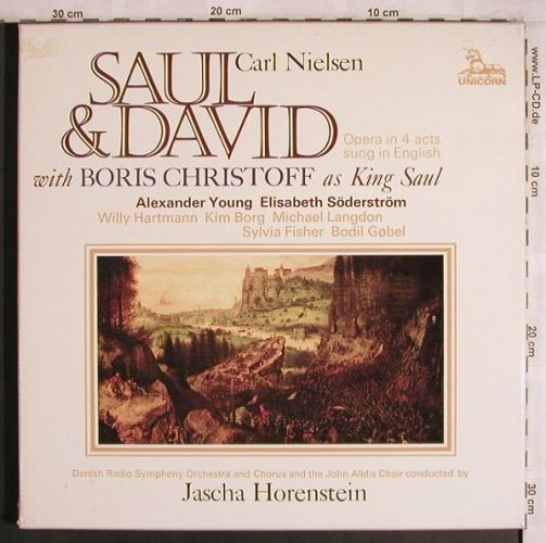 Nielsen,Carl: Saul & David, Box, sung in engl., Unicorn(RHS 343/5), UK, 1976 - 3LP - L8078 - 15,00 Euro