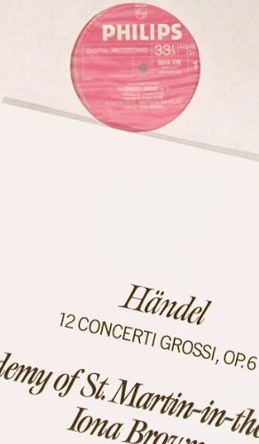Händel,Georg Friedrich: 12 Concerti Grossi Op.6, Box, Philips(6769 083), NL, 1983 - 3LP - L8108 - 12,50 Euro