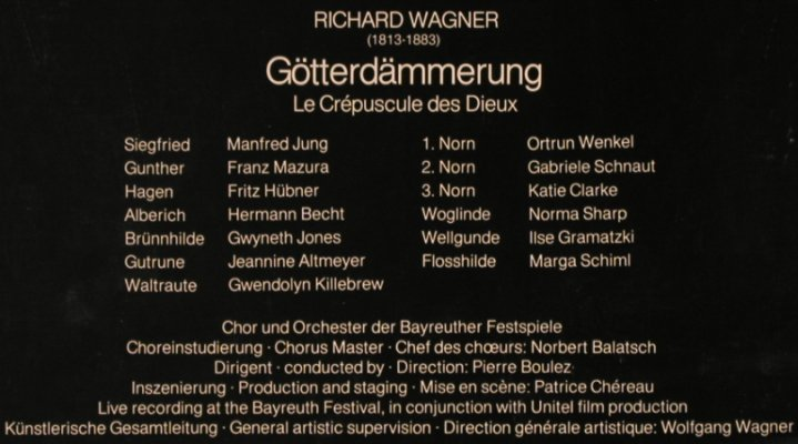 Wagner,Richard: Götterdämmerung,Box, Philips(6769 073), D, 1981 - 5LP - L8198 - 20,00 Euro
