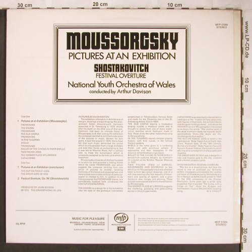 Mussorgsky,Modest / Shostakovitch: Pictures At An Exhibition/Festiv.Ov, MFP(MFP 57009), UK,vg+/m-, 1973 - LP - L8224 - 5,00 Euro