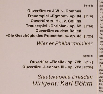 Beethoven,Ludwig van: Ouvertüren(69), D.Gr. Resonance(2535 135), D, 1975 - LP - L8271 - 6,00 Euro