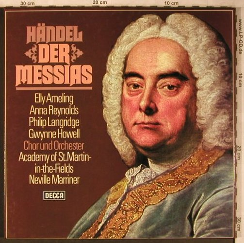 Händel,Georg Friedrich: Der Messias, Box, Decca(6.35349 FK), D, Ri, 1976 - 3LP - L8339 - 11,50 Euro