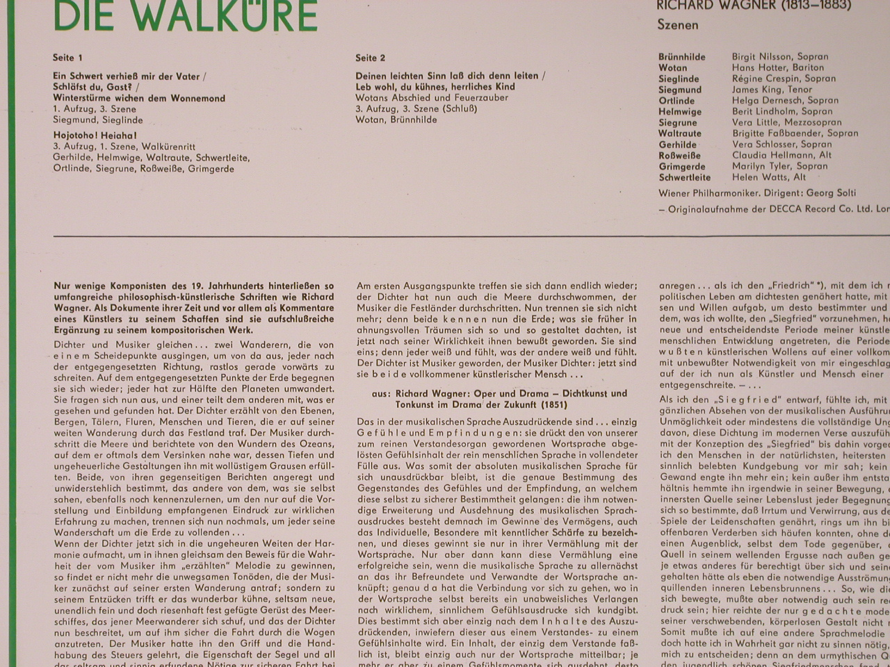 Wagner,Richard: Die Walküre-Szenen, Eterna(8 25 930), DDR, 1969 - LP - L8416 - 6,00 Euro