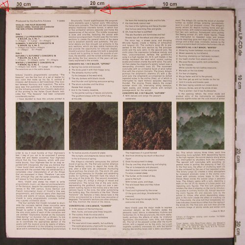 Vivaldi,Antonio: The Four Seasons, m-/vg+, toc, Columbia Odyssey(Y 32884), US, 1974 - LP - L8504 - 6,00 Euro