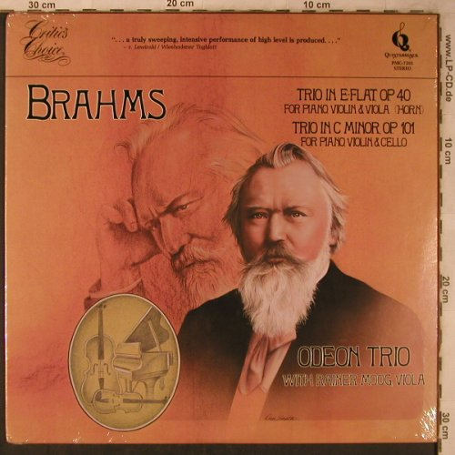 Brahms,Johannes: Trio in E-Flat op 40, op.101,FS-New, Pickwick(PMC-7201), US, 1981 - LP - L8530 - 7,50 Euro