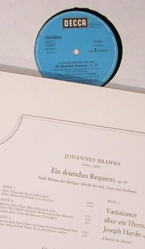 Brahms,Johannes: Ein Deutsches Requiem, Box, Decca Club Ed.(31 263 7), D, 1979 - 2LP - L8546 - 9,00 Euro