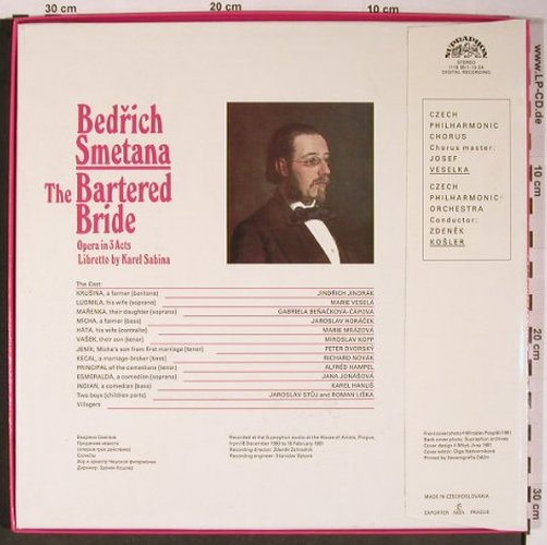Smetana,Bedrich: The Bartered Bride, Box, Supraphon(1116 3511-13 ZA), CZ, 1981 - 3LP - L8845 - 12,50 Euro