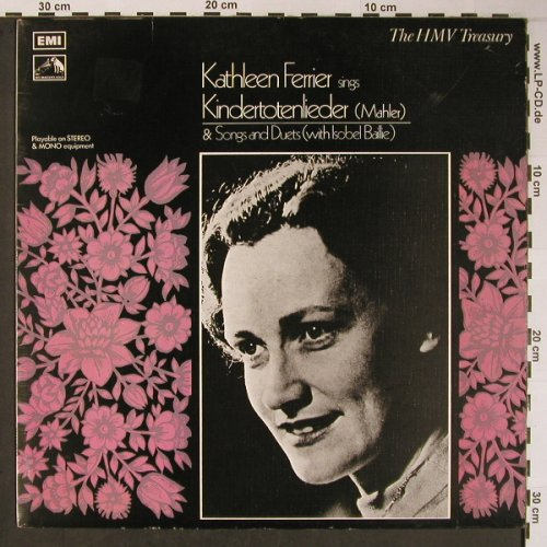 Ferrier,Kathleen: Sings Kindertotenlieder, m /vg+, EMI-HMV Treasury(HLM 7002), UK, Ri, 1972 - LP - L8851 - 6,00 Euro