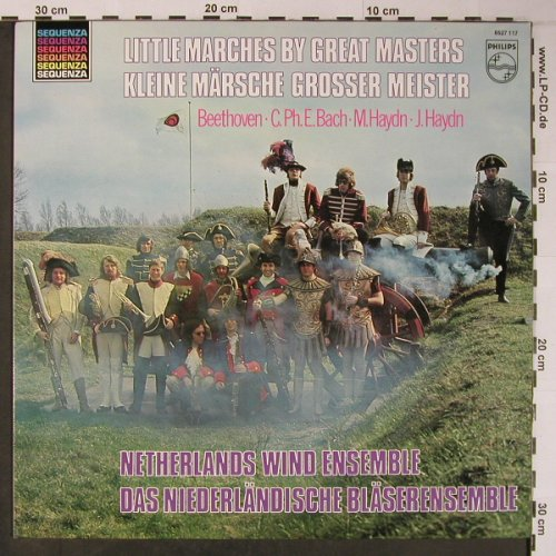 Netherland Wind Ensemble: Little Marches by Great Masters, Philips,Sample-Stol,Stoc(6527 11), NL,Ri, 1972 - LP - L8917 - 6,00 Euro