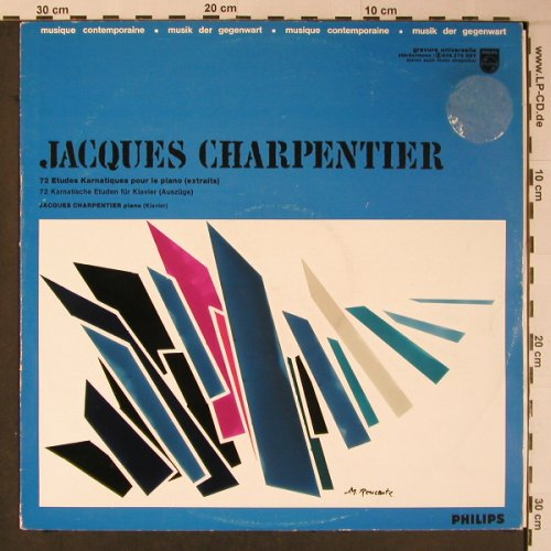 Charpentier,Jacques: 72 Etudes Karnatique pour le piano, Philips(839.276 DSY), F, m-/vg+,  - LP - L8939 - 29,00 Euro