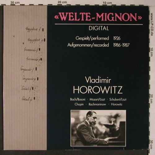 Horowitz,Vladimir: Welte-Mignon Digital, 1926, Intercord(INT 160.864), D, Foc, 1988 - LP - L9000 - 9,00 Euro
