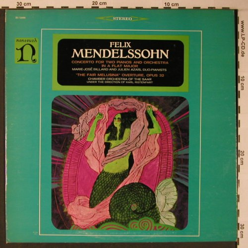 Mendelssohn Bartholdy: Concerto f.2Pianos&Orch./F.Melusina, Nonesuch(H-71099), US,  - LP - L9010 - 9,00 Euro