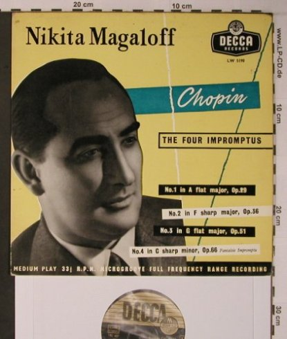 Chopin,Frederic: The Four Impromptus 1-4, vg-/vg+, Decca(LW 5190), D/UK, 1955 - LP - L9024 - 5,00 Euro