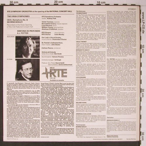 RTE Symphony Orchestra: National Concert Hall, RTE(RTE 61), IRE, 1981 - LP - L9065 - 12,50 Euro