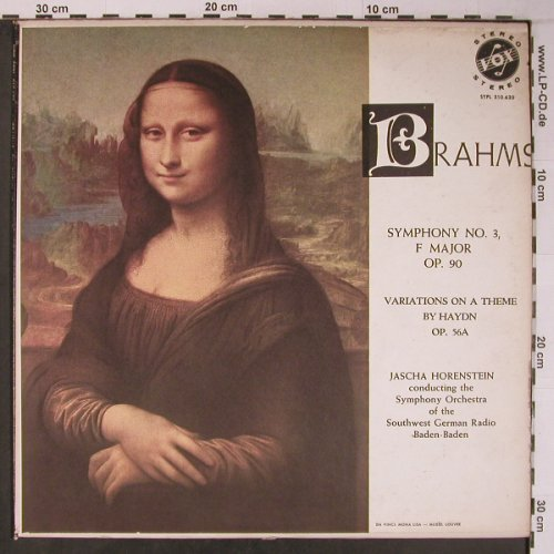 Brahms,Johannes: Symphony No.3 in F major op.90, VOX(STPL 510.620), US,vg+/vg+, 1963 - LP - L9117 - 29,00 Euro