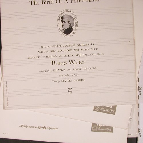 Walter,Bruno: The Birth of a Performance,Booklet, Philips Minigroove(A 01254/55 L), NL, Mono,  - 2LP - L9172 - 25,00 Euro