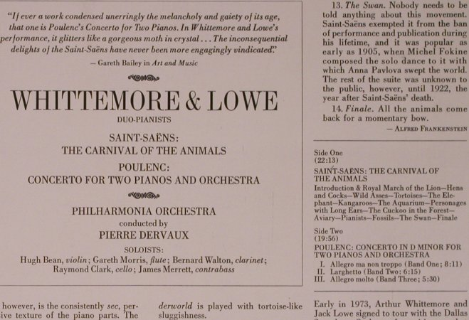 Saint-Saens,Camille / Poulenc: The Carnuval of the Animals/C.f.2pi, Seraphim(S-60214), US,  - LP - L9186 - 9,00 Euro