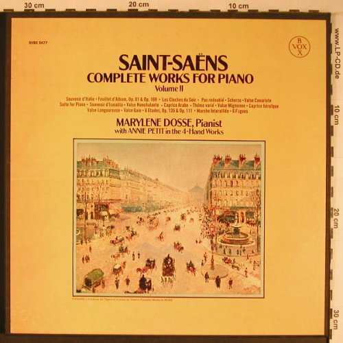 Saint-Saens,Camille: Complete Works for Piano Vol.1&2, VoxBox(SVBX 5477), US, vg+/m-,  - 3LP*2 - L9188 - 75,00 Euro