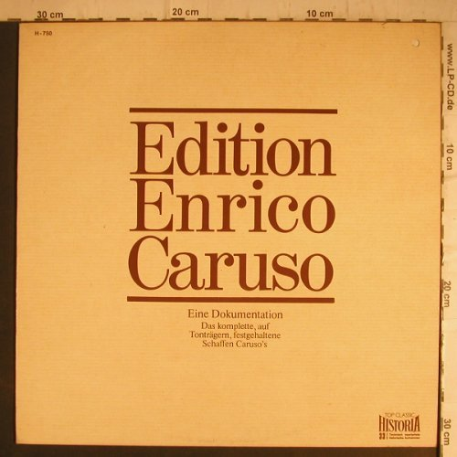 Caruso,Enrico: Edition, co (Band 14 / 1915-1916), Historia(H-750), D, 1974 - LP - L940 - 5,00 Euro