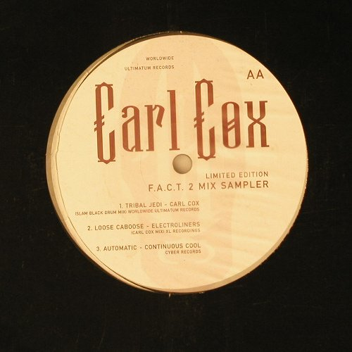 Cox,Carl: Tribal Jedi+2, 1-sideMixSampler, Ultimatum(Fact2), LC, 97 - 12inch - A5532 - 4,00 Euro