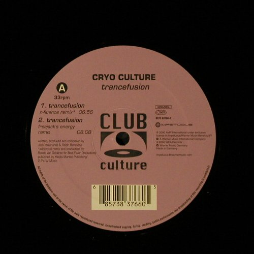 Cyro Culture: Trancefusion*3+1,Flc, m-/vg+, Club Culture(), D, 00 - 12inch - B8712 - 2,50 Euro