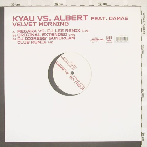 Kyau vs.Albert feat.Damae: Velvet Morning*3, ClubCultur(), D, 03 - 12inch - B8802 - 3,00 Euro