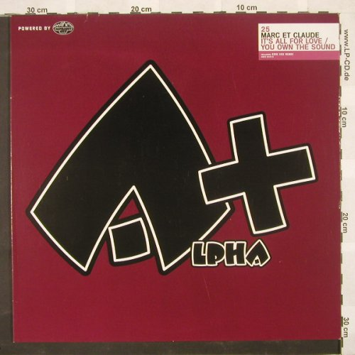 Marc et Claude: It's All For Love+1,Flc, Alpha+(), D, 03 - 12inch - B9199 - 3,00 Euro