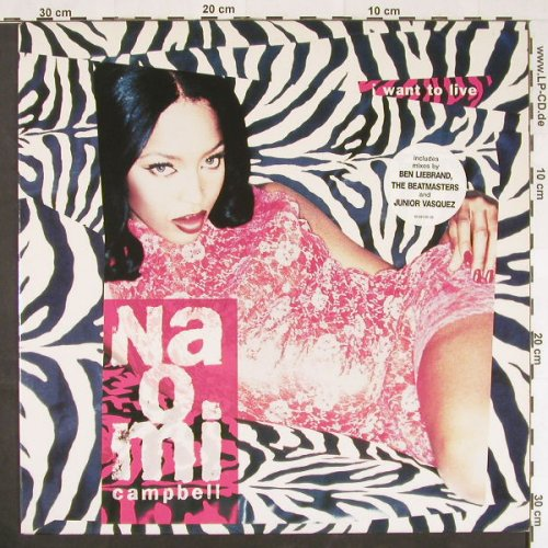 Cambpell,Naomi: I Want To Live *5(mix), Epic(661191 6), NL, 1995 - 12inch - E211 - 3,00 Euro
