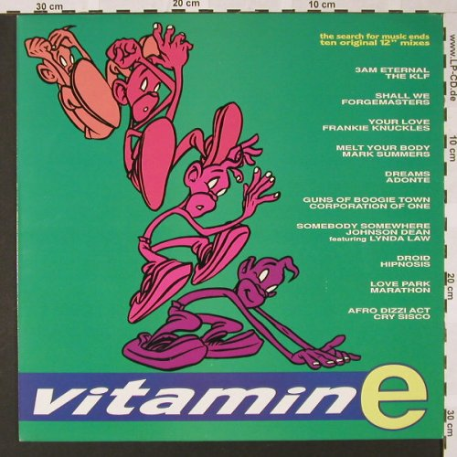 V.A.Vitamin E: The Search For Music Ends, 10 Tr., Ocean(WL5003), F, 1989 - LP - E7219 - 6,50 Euro
