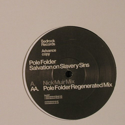 Pole Folder: Salvation on Slavery Sins, Bedrock(Bed58P), , 2005 - 12inch - F2202 - 4,00 Euro