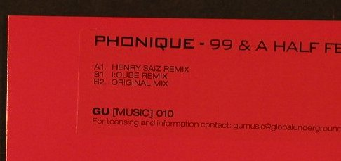 Phonique: 99 and a Half f.Alexander East, Global Underground(GUSIN010), , 2005 - 12inch - F2203 - 5,00 Euro