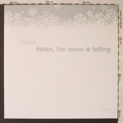 Klimek: Listen, the snow is falling, Kompakt(125), D, 2003 - 12inch - F2220 - 7,50 Euro