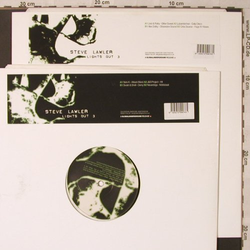 "V.A.Steve Lawler: Lights Out 3, Pt.1+2, Global Underground(), UK,  - 12""*2 - F2224 - 7,50 Euro"