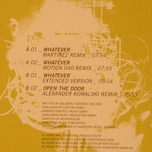 Sono: Whatever*3+1, FS-New, Play It Again Sam(), , 2006 - 12inch - F2230 - 5,00 Euro