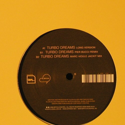 Ellen Allien & Apparat: Turbo Dreams, LC, Bpitch Control(BCP124), EU, 2006 - 12inch - F2256 - 7,50 Euro