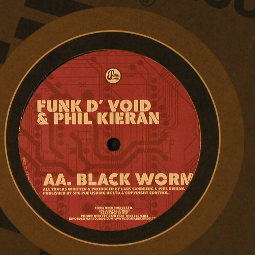 Funk d' Void & Phil Kieran: Lost in Belfast/Black Worm, Soma(169), EU, 2005 - 12 - F2510 - 5,00 Euro