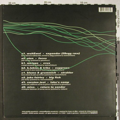 V.A.Receiving Data: .....Ah,It's Coming!,weltZwei..misc, Sender Records(send030), D, 2003 - 2LP - H1807 - 10,00 Euro