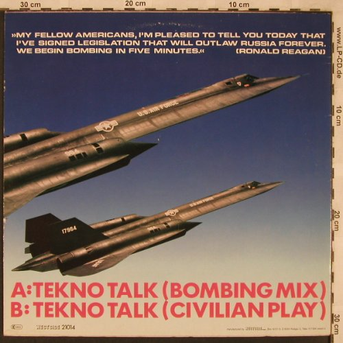 Moskwa TV: Tekno Talk(Bombing Mix), Westside(21014), D,  - 12inch - X2364 - 4,00 Euro