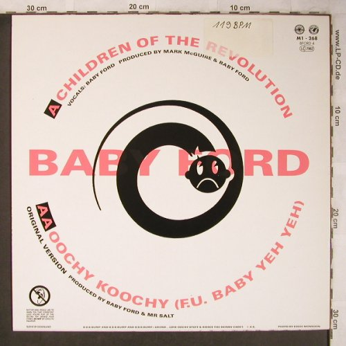 Baby Ford feat Oochy Koochy: Children Of The Revolution+2, stoc, BFord 4(M1-268), D, 1988 - 12inch - X5239 - 4,00 Euro