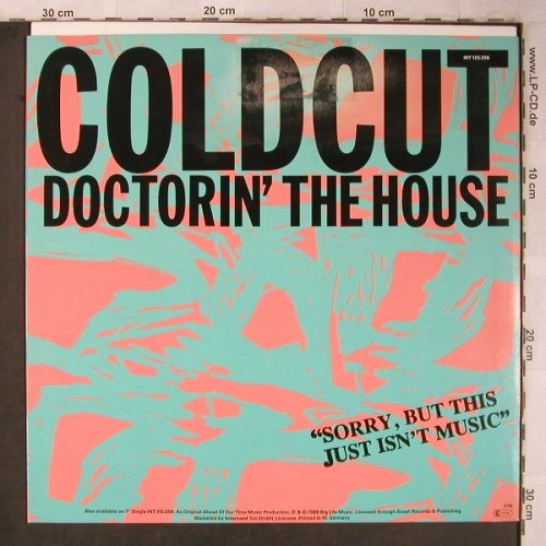 Coldcut: Doctorin'the House,Orange Vinyl, Big Life(INT 125.256), D, m-/vg+, 1988 - 12inch - X5241 - 4,00 Euro