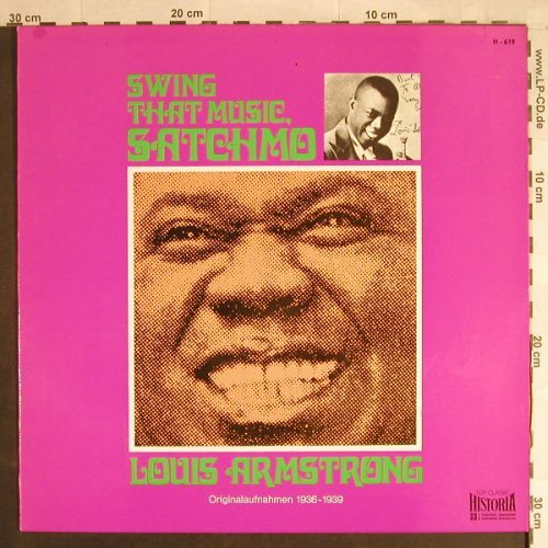 Armstrong,Louis: Swing That Music Satchmo(1936-1939), Historia(H-619), D,  - LP - B2731 - 5,00 Euro