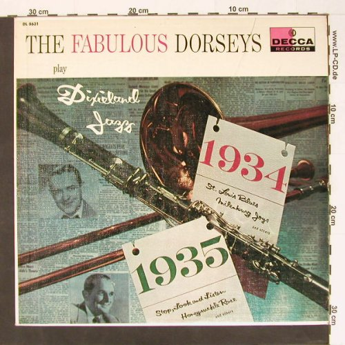 Dorsey Brother Orchester: Tha Fabulous ...at Dixieland Jazz, Decca(DL 8631), US,  - LP - B8421 - 10,00 Euro