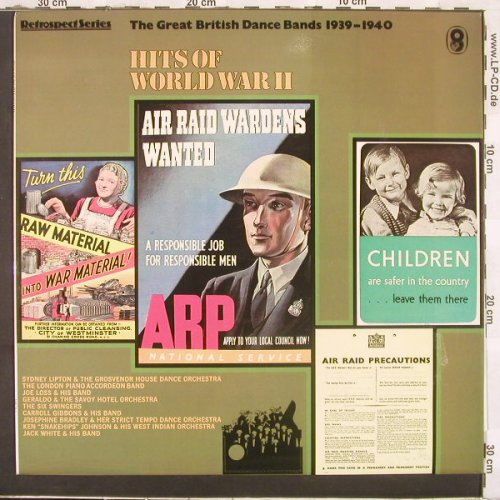 V.A.Great British Dance Bands, The: Hits Of World War II, World Records(SH 343), UK,  - LP - C2771 - 9,00 Euro