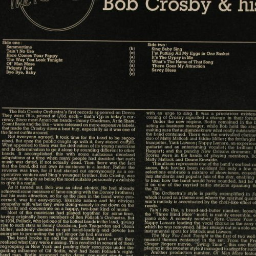 Crosby,Bob: The Radio Years 3, London(HMG 5021), UK, 1976 - 2LP - C5389 - 6,00 Euro