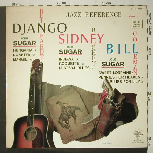 V.A.Jazz Reference: No.1, Django,Sidney Bill, m-/vg+, Trianon(CTRY 7165), F,  - LP - C6445 - 7,50 Euro