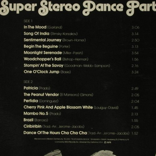 Jerome,Henry & His Orchestra: Super Stereo Dance Party, MCA(6.22592 AS), D, 1976 - LP - C6638 - 7,50 Euro