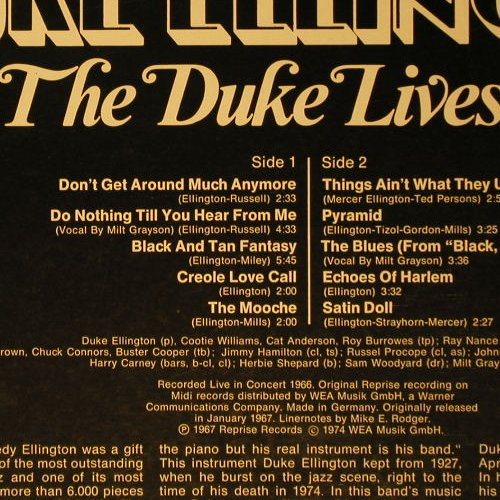 Ellington,Duke: The Duke Lives on '67, Ri, Midi(MID 24021), D, 1974 - LP - C6695 - 5,00 Euro