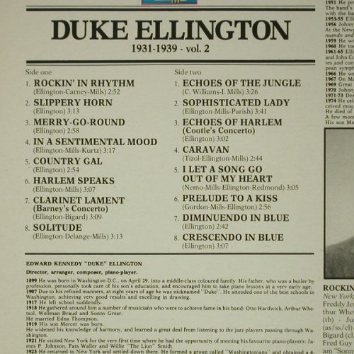 Ellington,Duke & his Orchestra: 1931-1939, Giants o.J.(LPJT 42), I, 1986 - LP - C6884 - 5,00 Euro