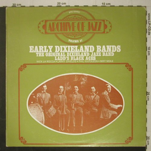 V.A.Early Dixieland Bands: Archive Of Jazz Vol.37, 14 Tr.,vg+m, BYG(529087), F,  - LP - C7286 - 3,00 Euro